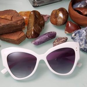 Accessories - Large White Butterfly Sunglasses